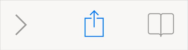Adicionar à tela inicial no Safari