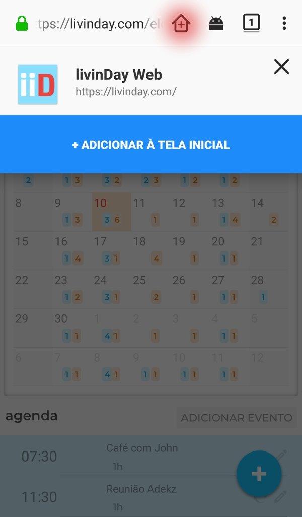 Adicionar à tela inicial no Firefox